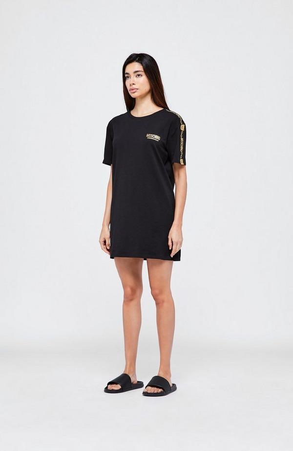 Teddy Tape Short Sleeve Dress