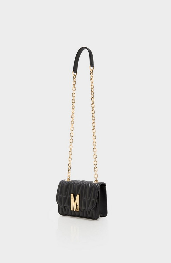 M Quilted Chain Shoulder Bag