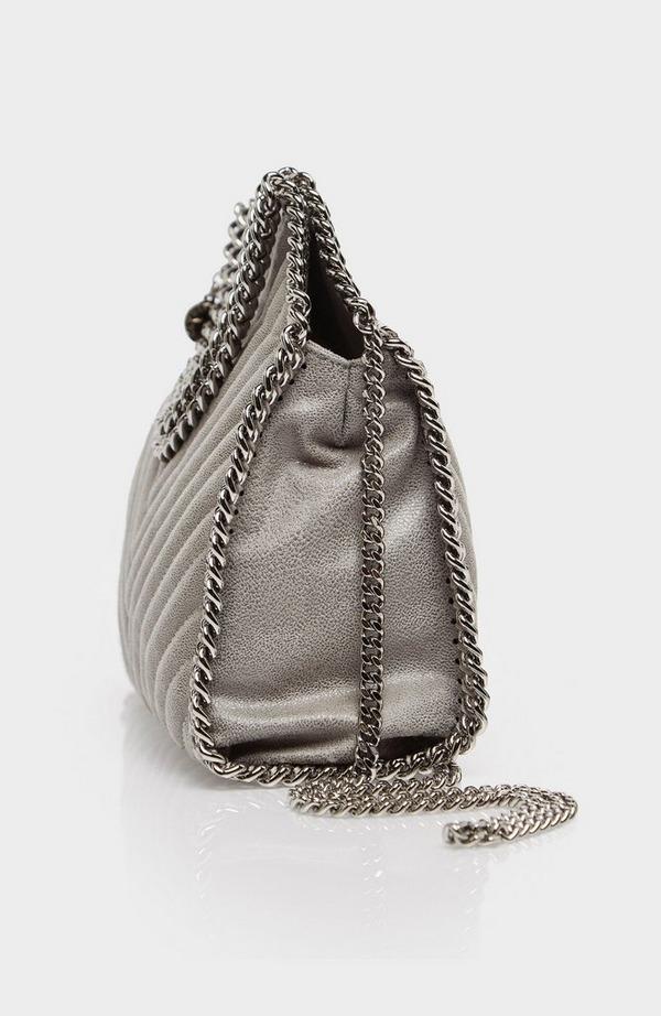 Mini Chevron Falabella Tote Bag