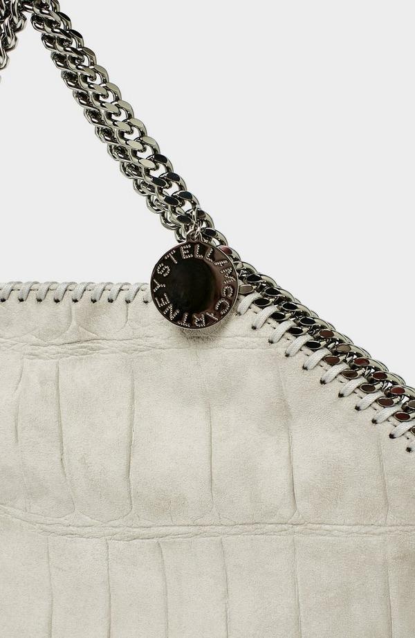 Falabella 3 Chain Croc Tote Bag
