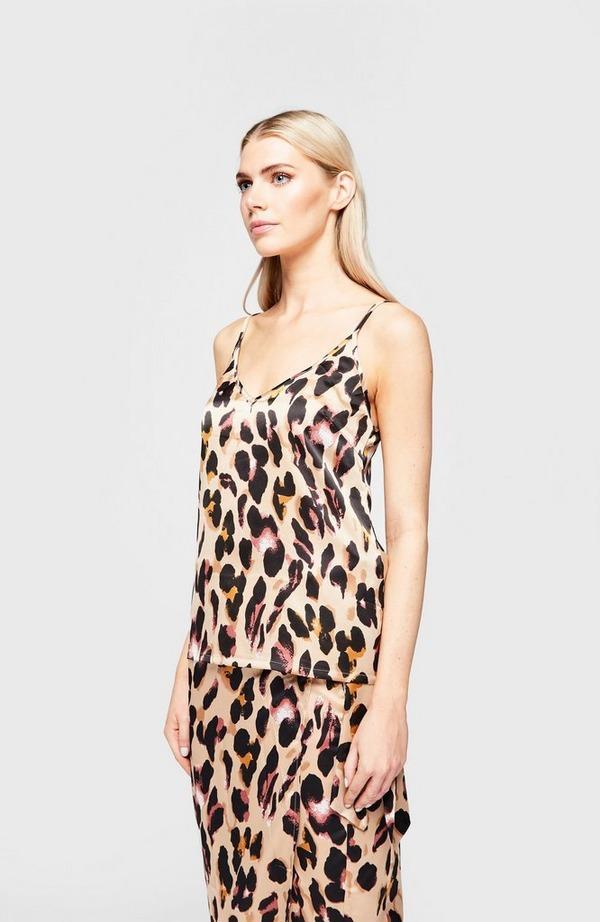 Leopard Cami Top