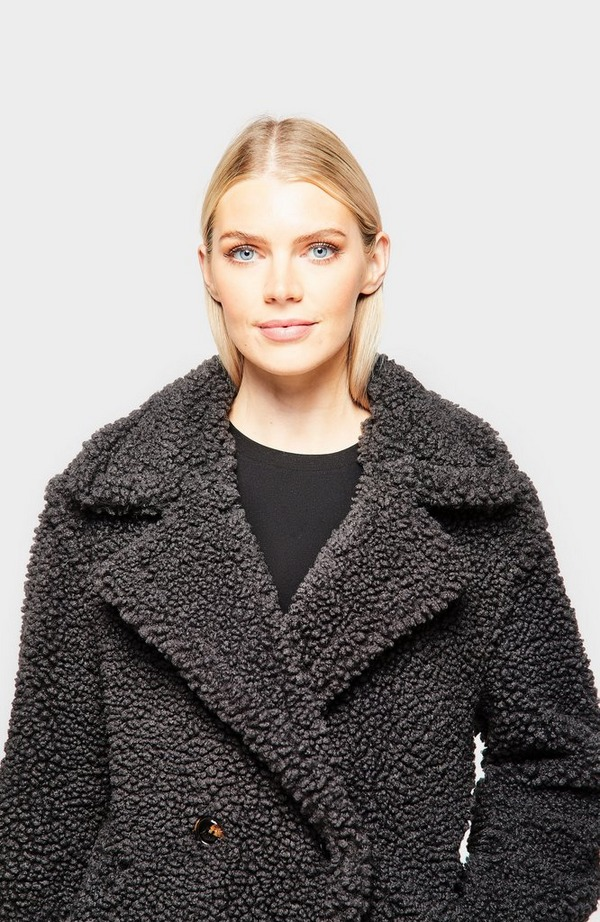 Gertrude Long Teddy Coat
