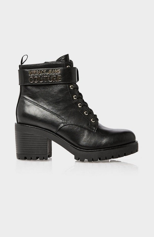 Metal Buckle Lace Up Boot