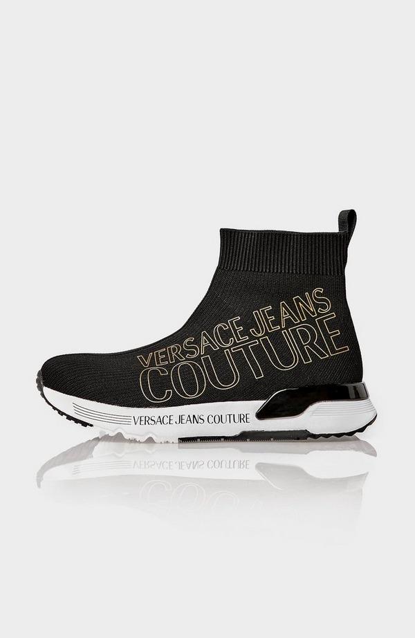 Gold Logo Sock Boot Trainer