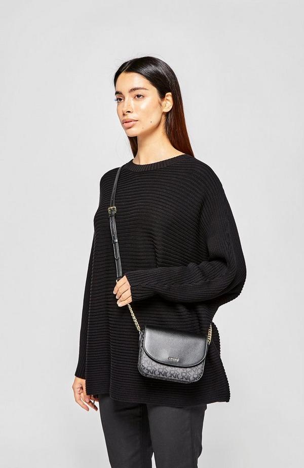 Felicia T&C Logo Flap Crossbody Bag