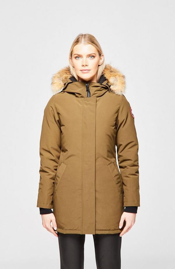 Victoria Fur Hooded Short Parka
