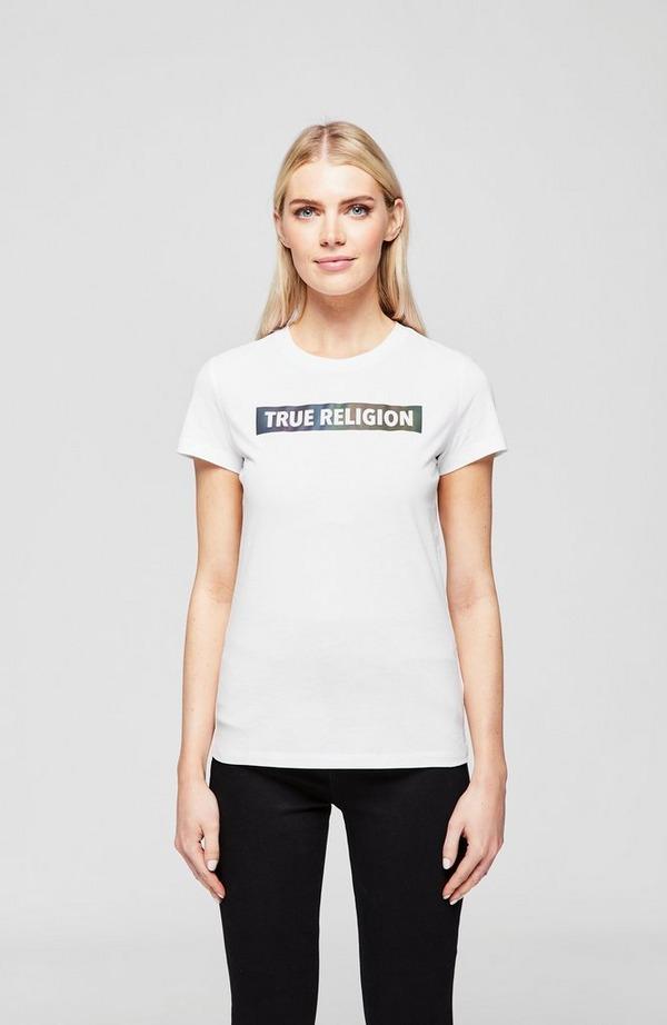 Ombre Sheen Slim Crew Neck T-Shirt
