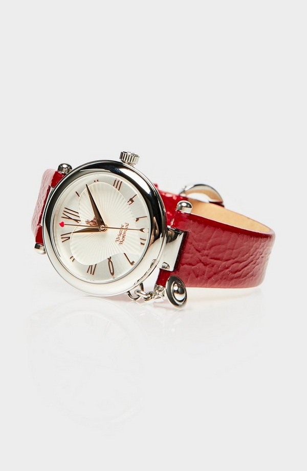 Mother Orb Leather Strap Watch