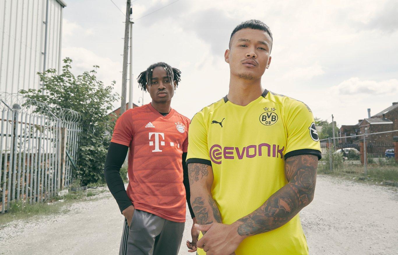 Equipaciones del Bayern de Munich y Borussia Dortmund