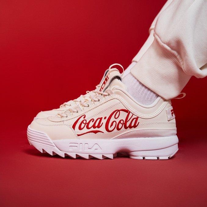 fila disruptor coca-cola