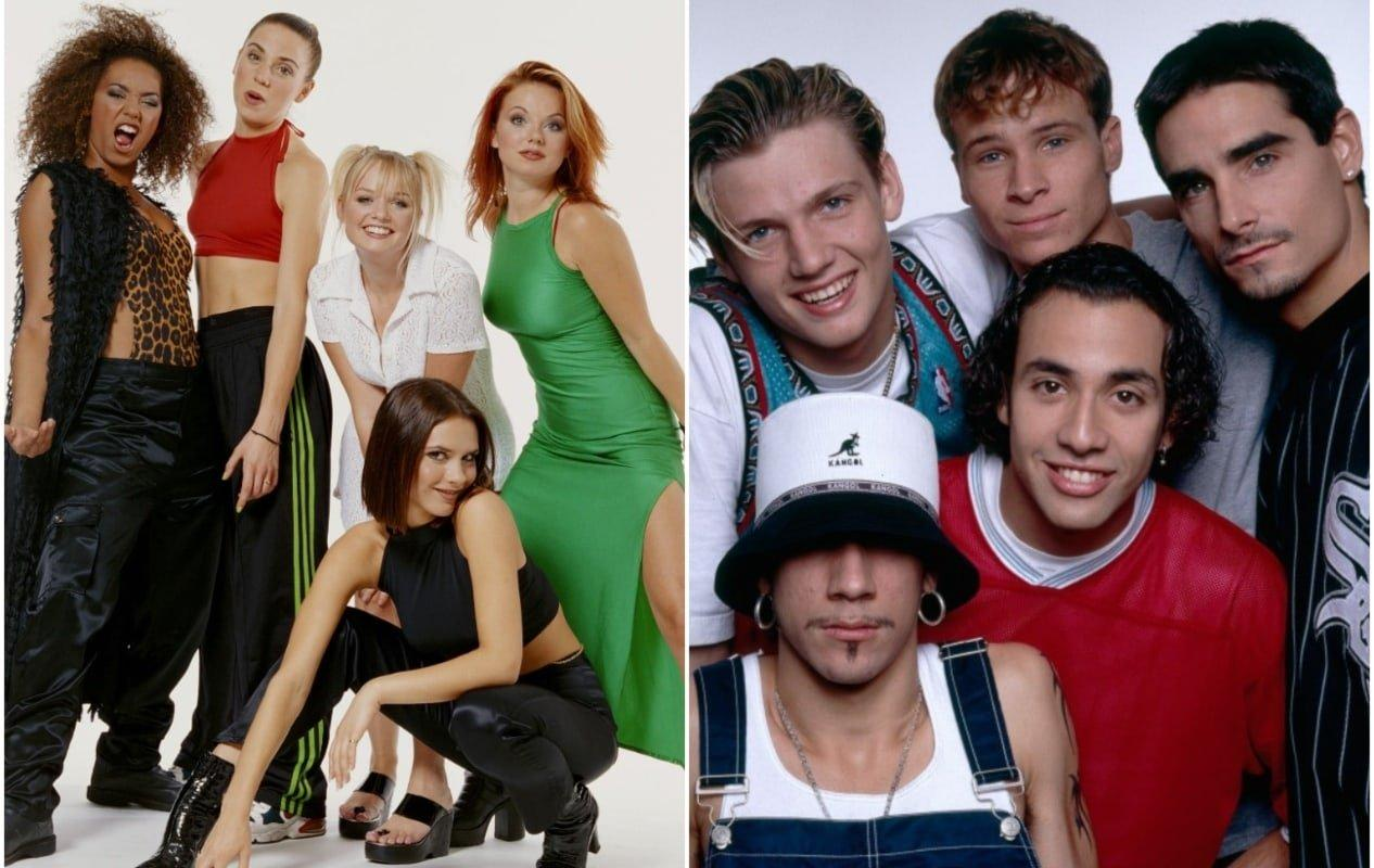 90 look Space Girls e Backstreet Boys