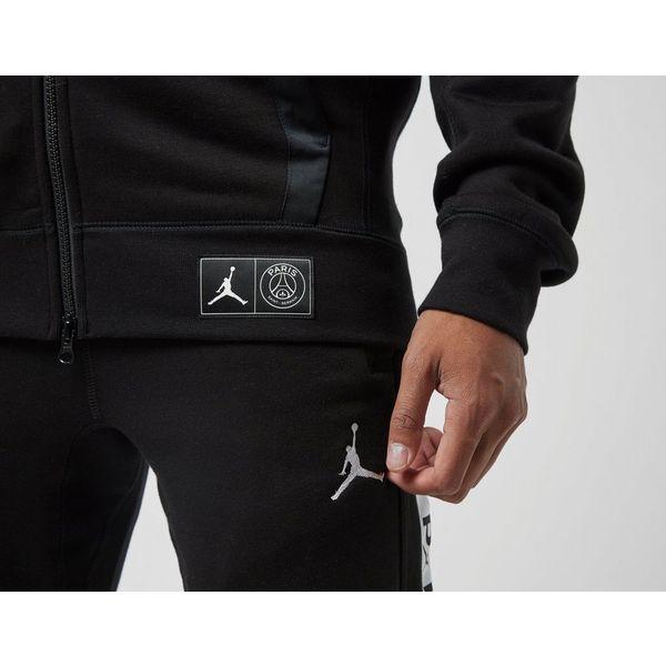 Jordan x PSG Black Cat Full Zip Fleece Hoodie