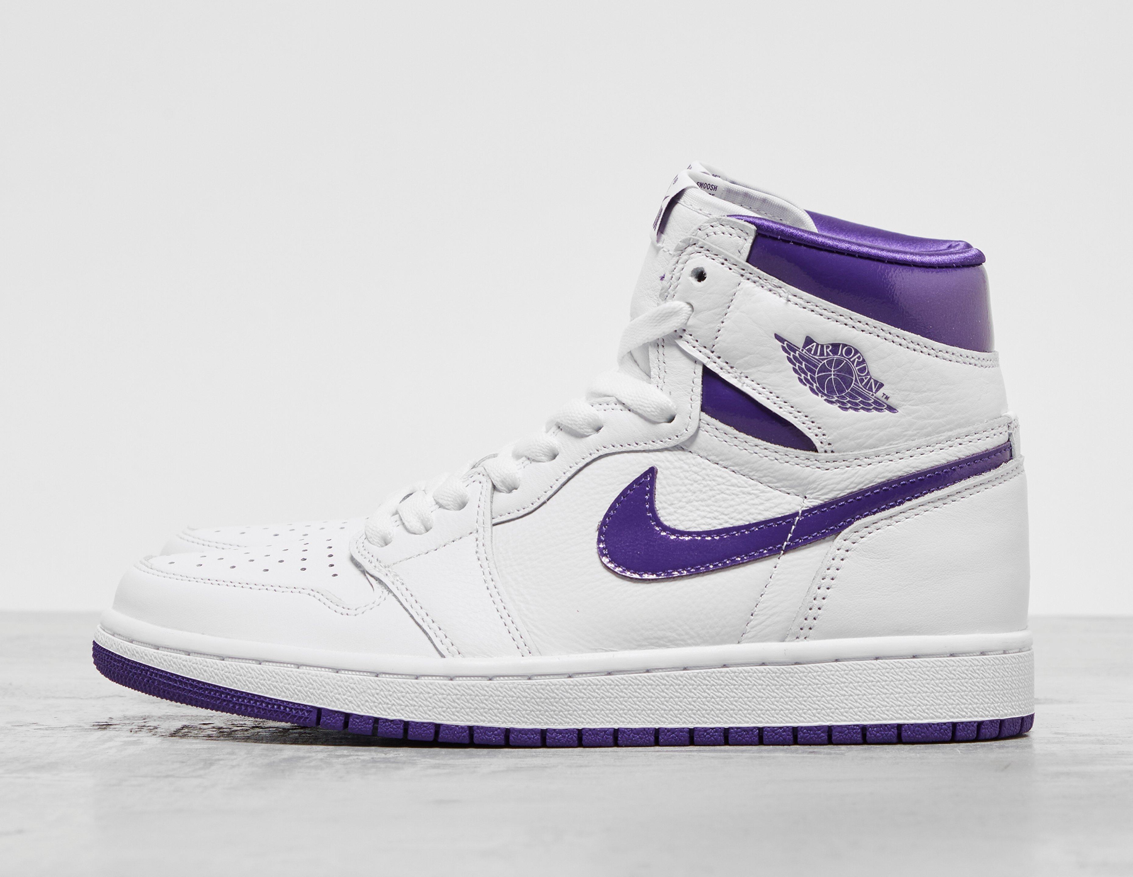 White Jordan Air Jordan 1 High 'Court Purple'   Ietp