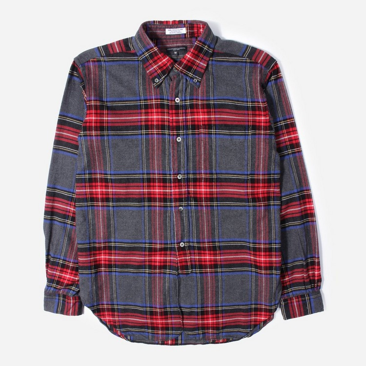 Engineered Garments Brushed Plaid 19 Century BD Shirt