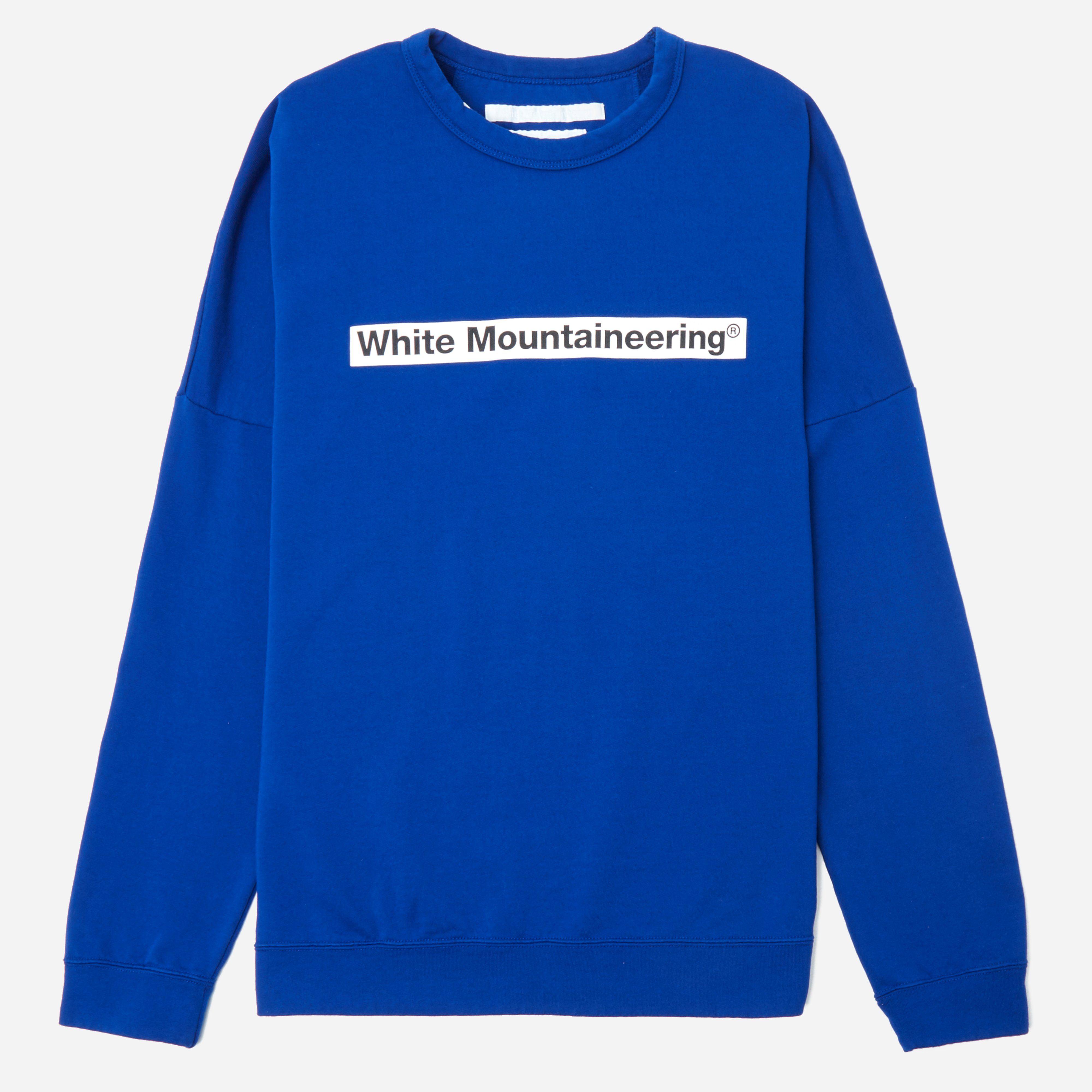 White Mountaineering Drop Shoulder Logo Sweatshirt