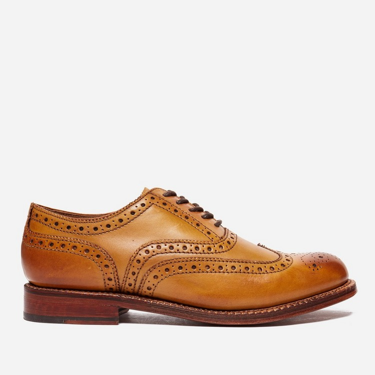 Grenson Stanley Tan Calf Brogue