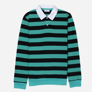 Saturdays NYC Sanders Stripe Long Sleeve Polo Shirt