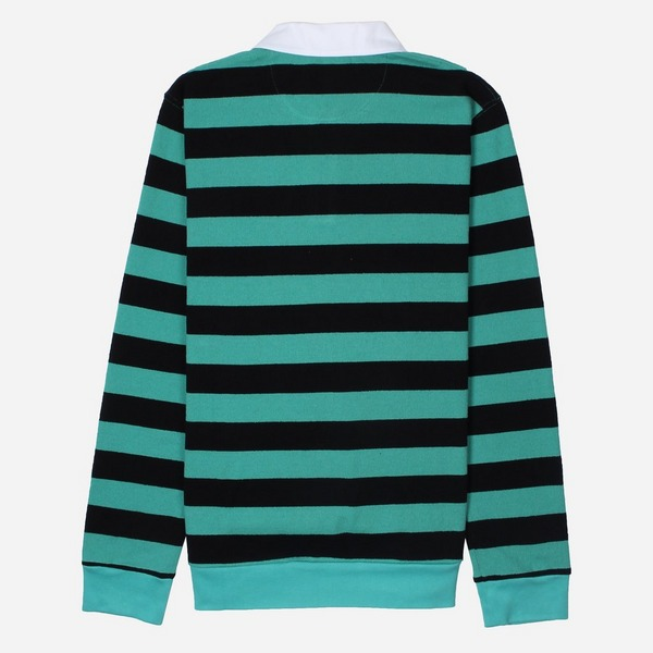 Saturdays NYC Sanders Stripe Long Sleeve Polo Shirt