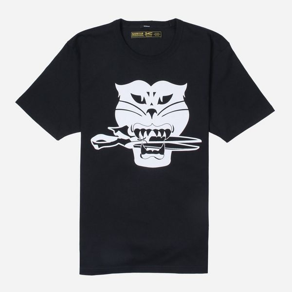 Barbour International x Denham Black Cat Short Sleeve T-Shirt