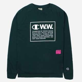 Champion x Wood Wood Logo Long Sleeve T-Shirt
