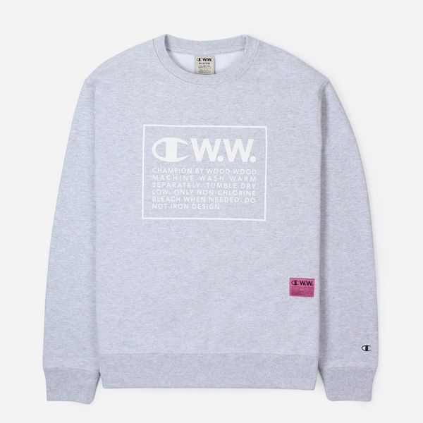 Champion x Wood Wood Logo Crew Sweatshirt