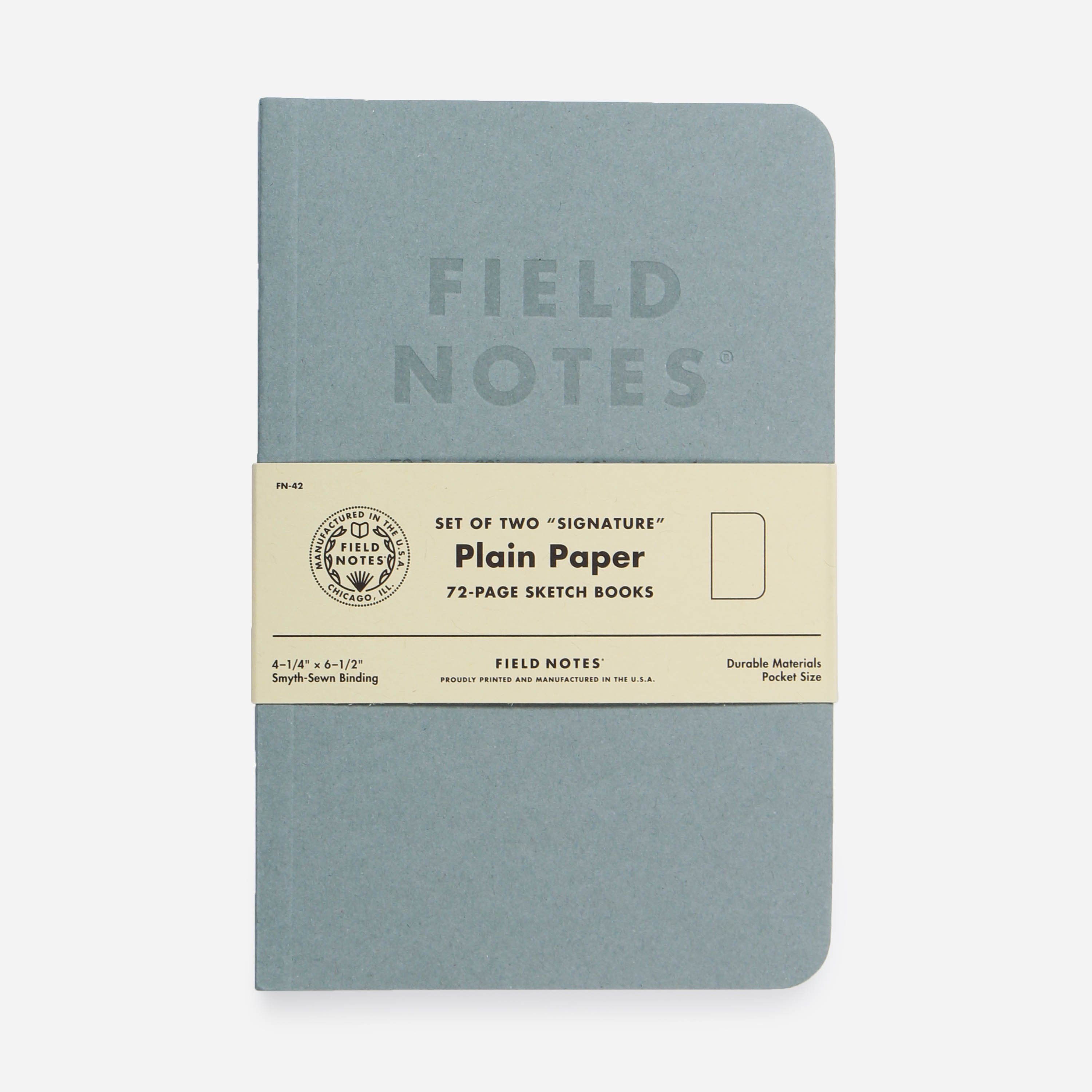 Field Notes FN-42 SIGNATURE PLAIN 2 PACK