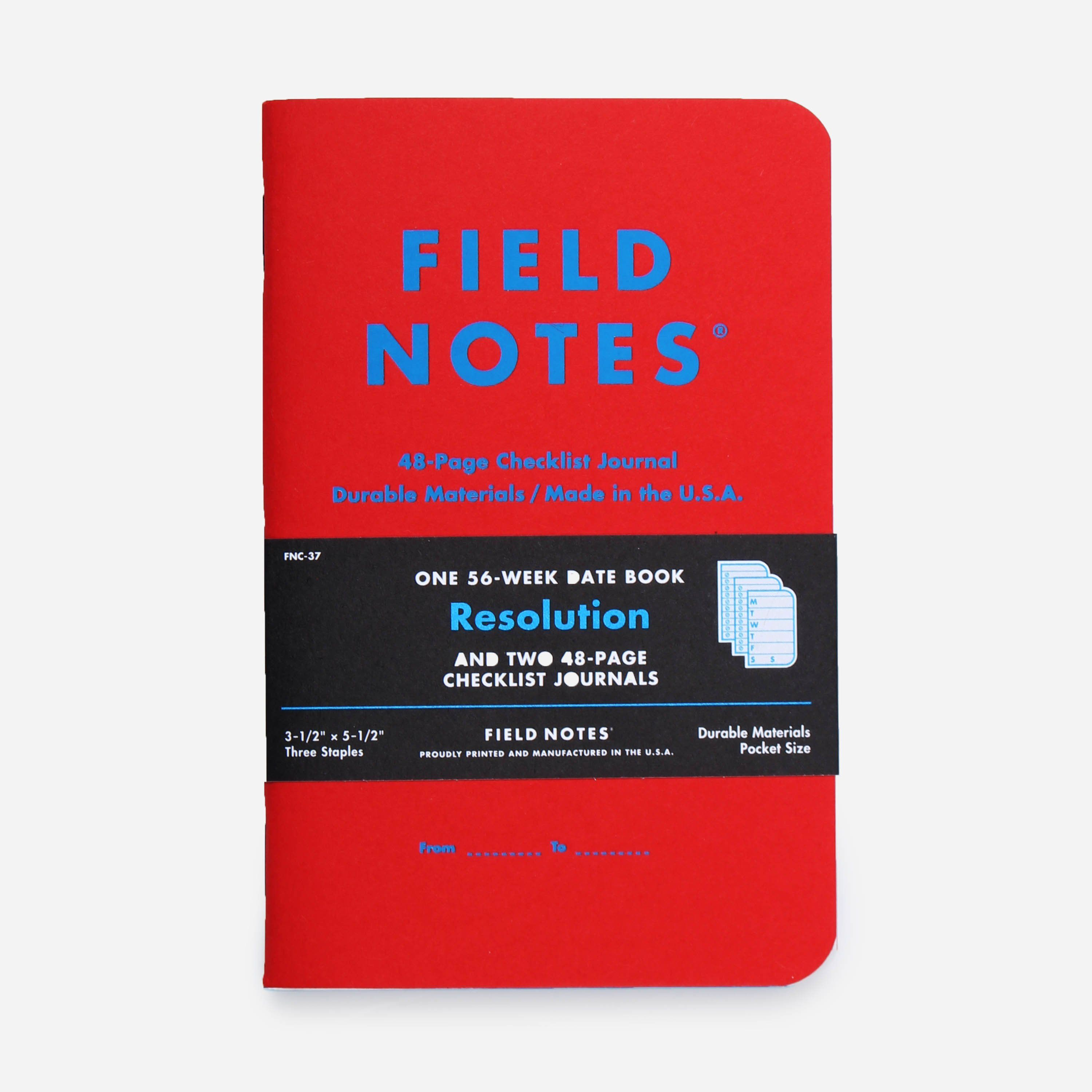 Field Notes Resolution 3-Pack