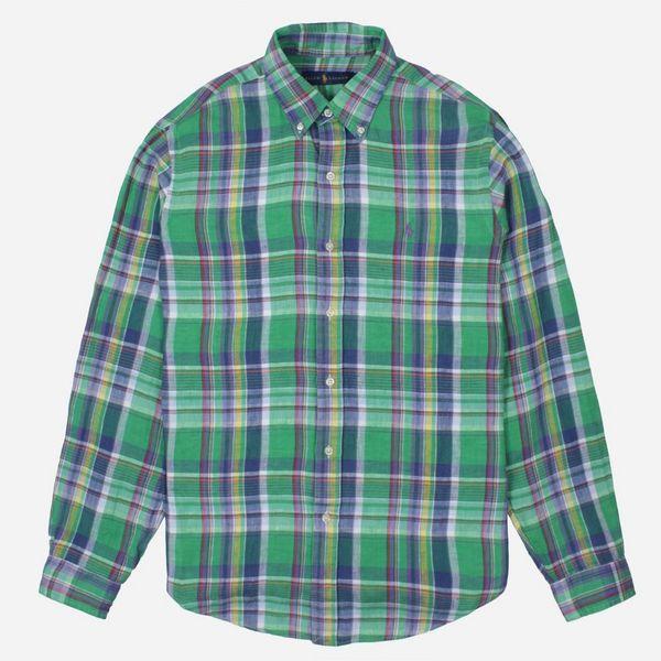 Polo Ralph Lauren Linen Check Long Sleeve Shirt