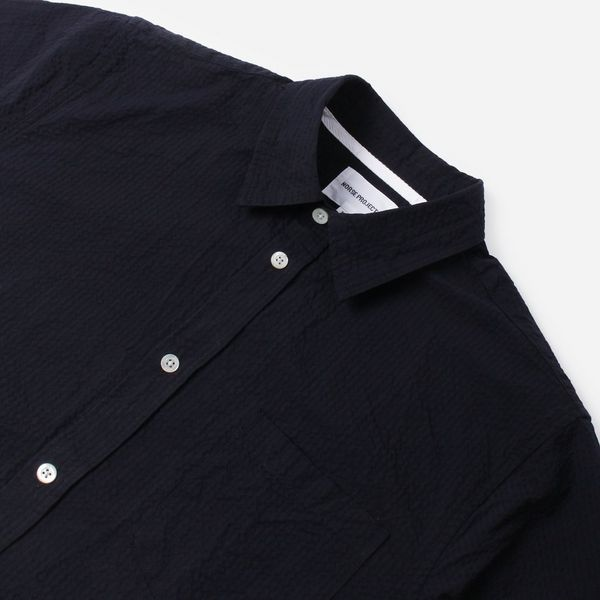 Norse Projects Osvald Seersucker Short Sleeve Shirt