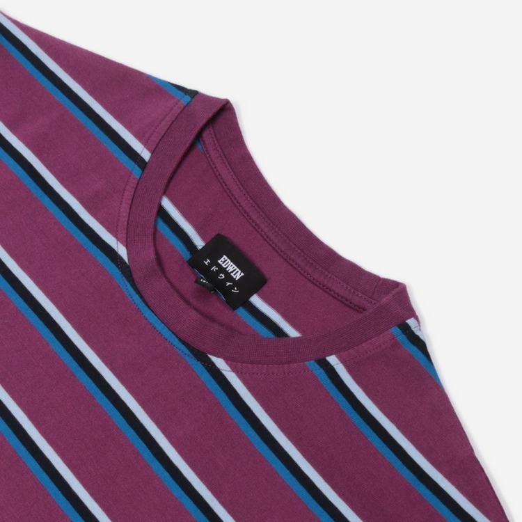 Edwin West Stripe Short Sleeve T-Shirt