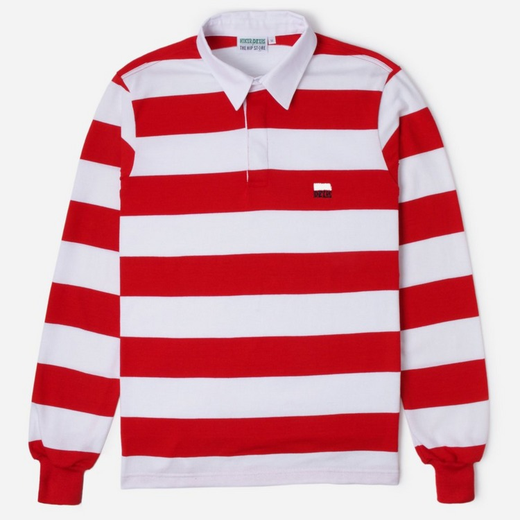 Hikerdelic Stripe Rugby Polo Shirt