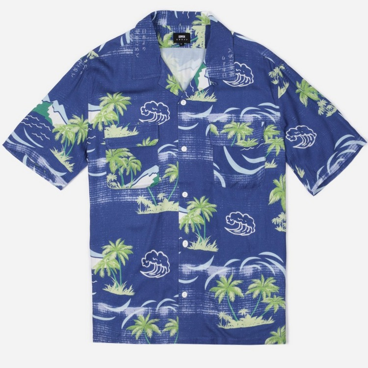Edwin Palm Print Short Sleeve Shirt