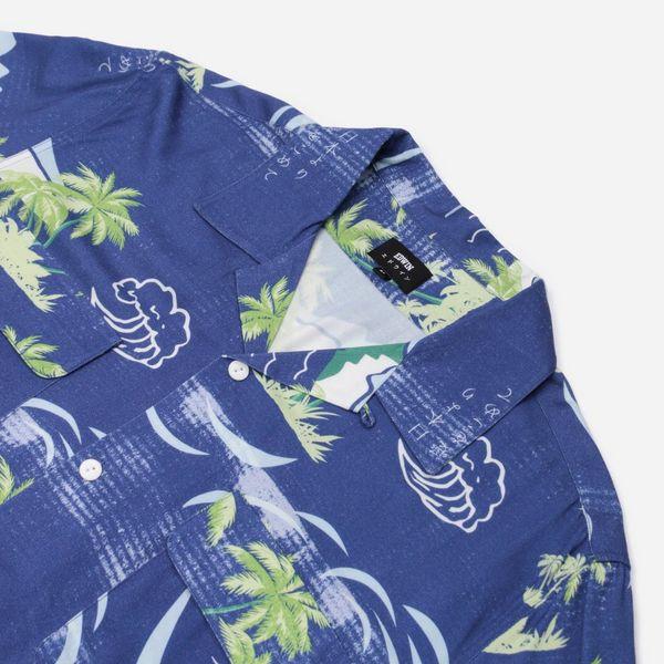Edwin Palm Print Short Sleeve Shirt