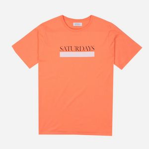 a1ee7d2152 Saturdays NYC Bar Underline T-Shirt ...