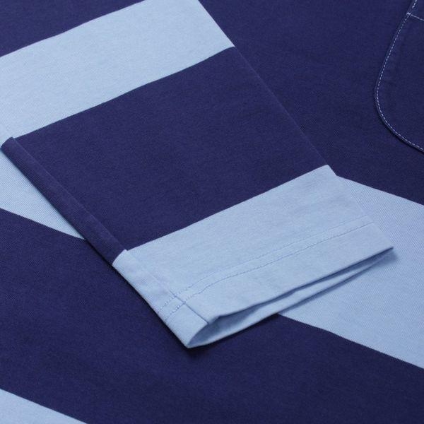 Universal Works Stripe Long Sleeve Pocket T-Shirt