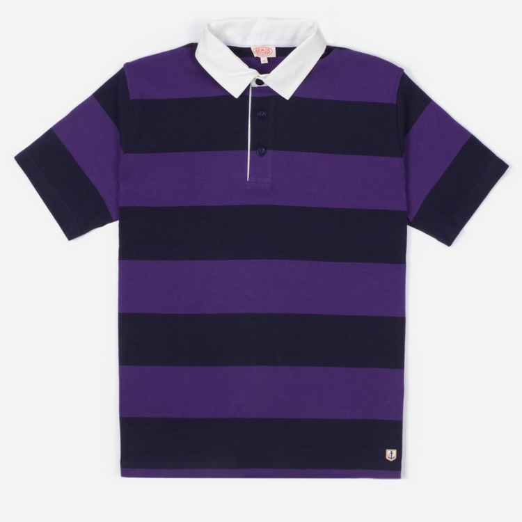 Armor Lux Rugby Stripe Polo Shirt