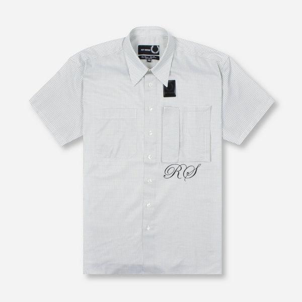 Fred Perry X Raf Simons Space Pocket Micro Check Short Sleeve Shirt