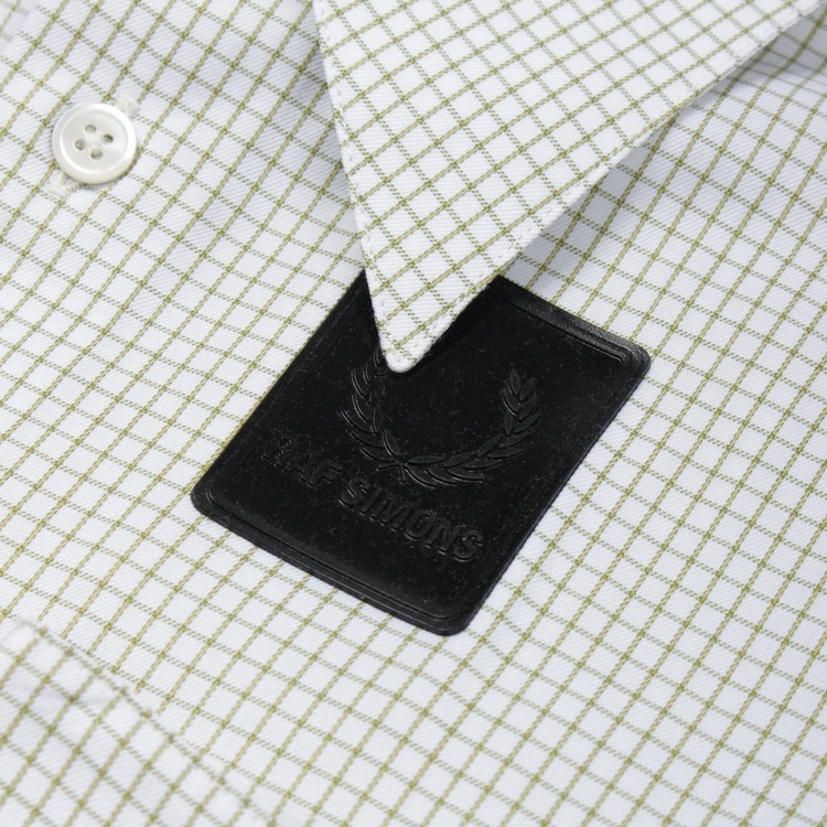Fred Perry X Raf Simons Space Pocket Micro Check Short Sleeve Shirt