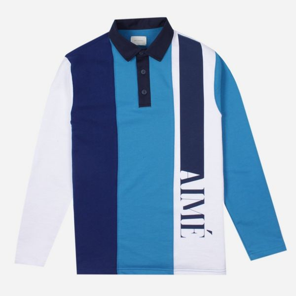Aime Leon Dore Heavyweight French Terry Rugby Polo Shirt