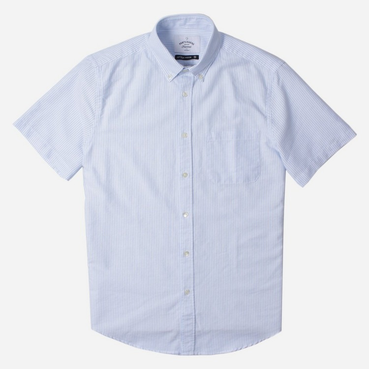 Portuguese Flannel Belavista Stripe Short Sleeve Shirt