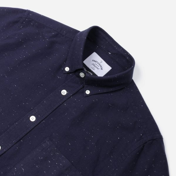 Portuguese Flannel Blur Short Sleeve Shirt