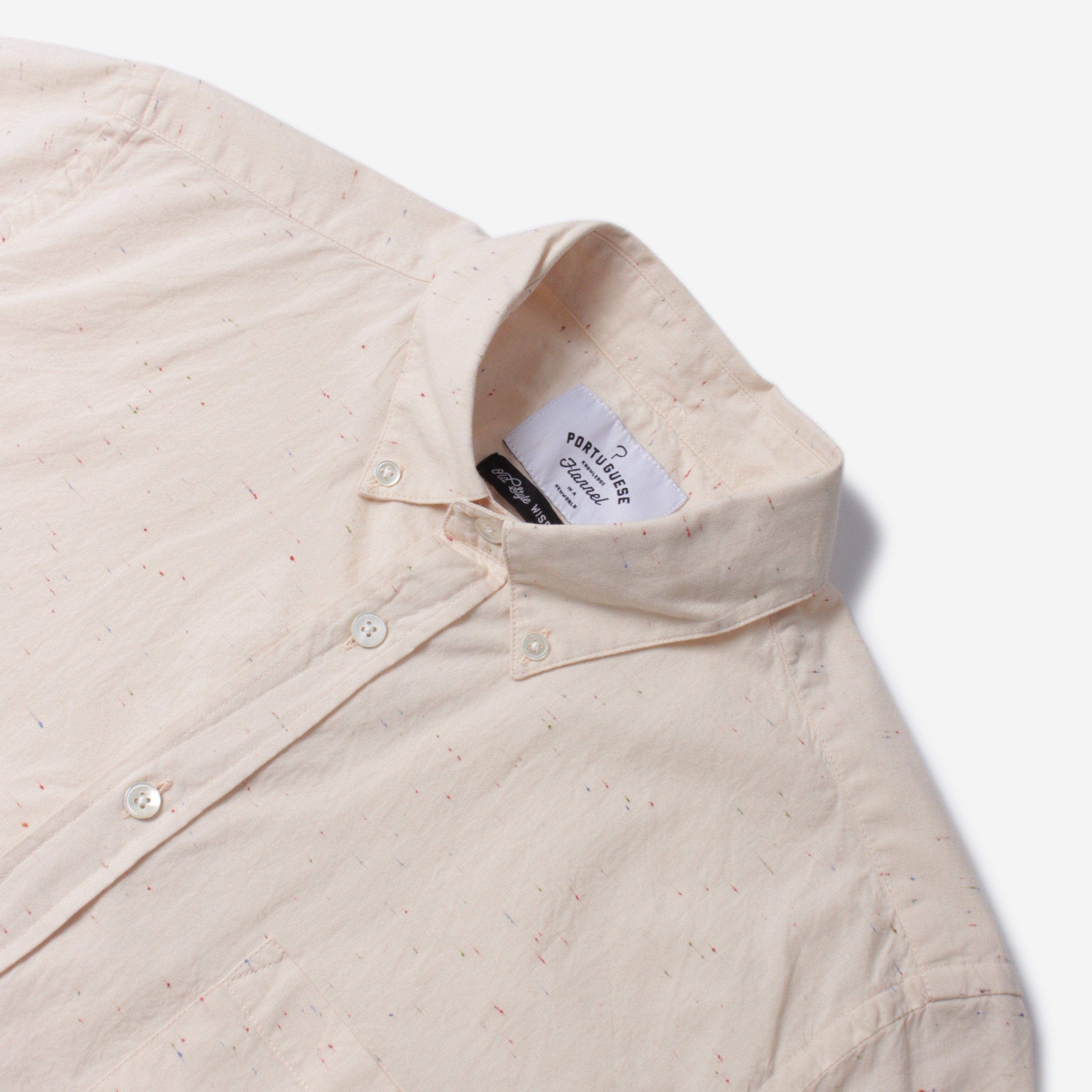Portuguese Flannel EBANO S/S BD SHIRT