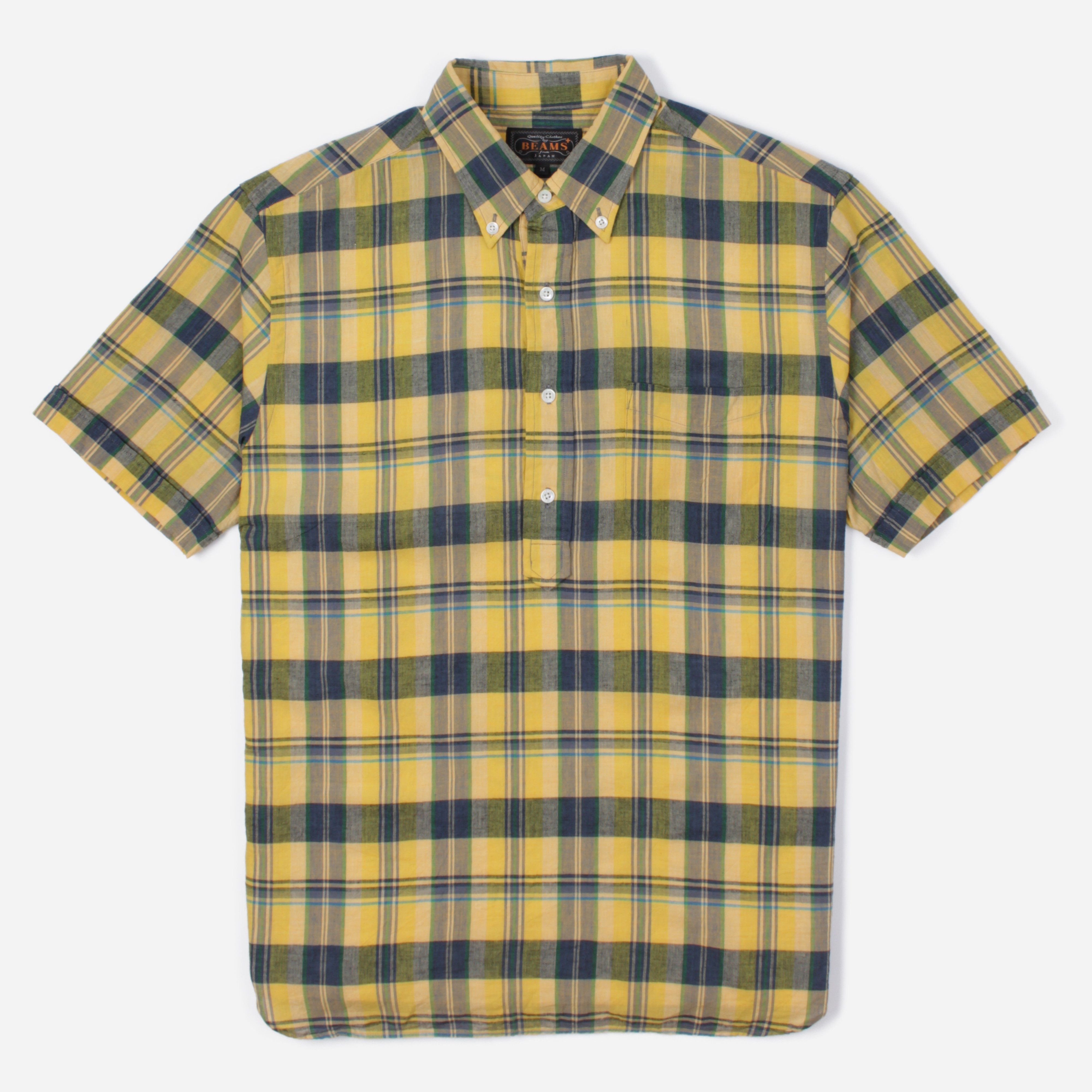 Beams Plus 1101 0877 139 SS BD PULLOVER BD INDIAN MADRAS