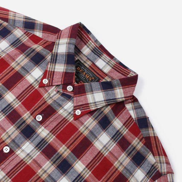 Beams Plus Indian Madras Short Sleeve Pullover Shirt