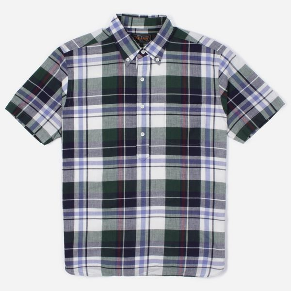 Beams Plus Indian Madras Short Sleeve Pullover Shirt