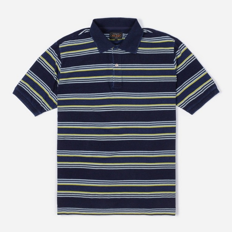 Beams Plus Border Stripe Polo Shirt