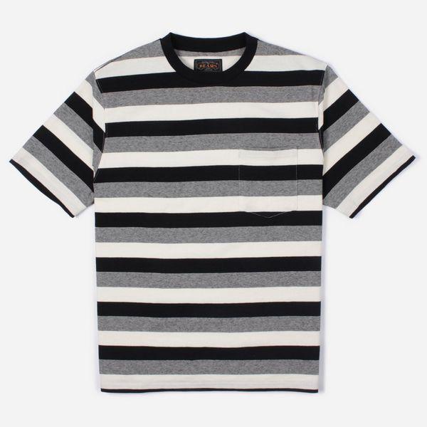 Beams Plus Graduation Border Pocket Stripe T-Shirt