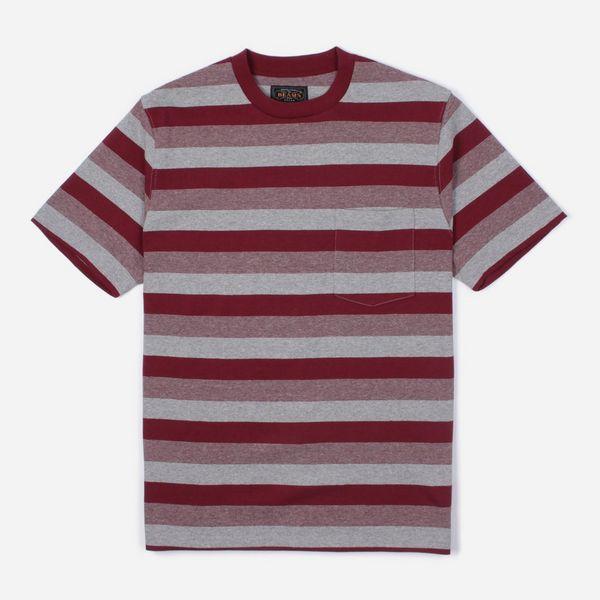 Beams Plus Graduation Border Stripe Pocket T-Shirt