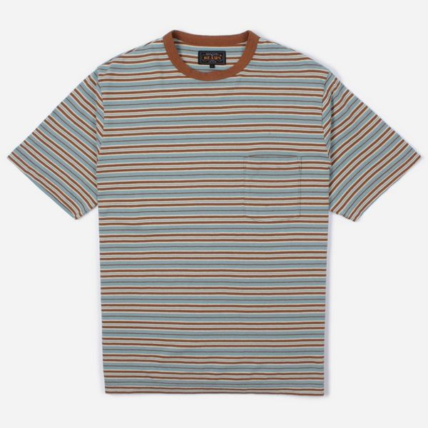 Beams Plus Nep Border Stripe Pocket T-Shirt