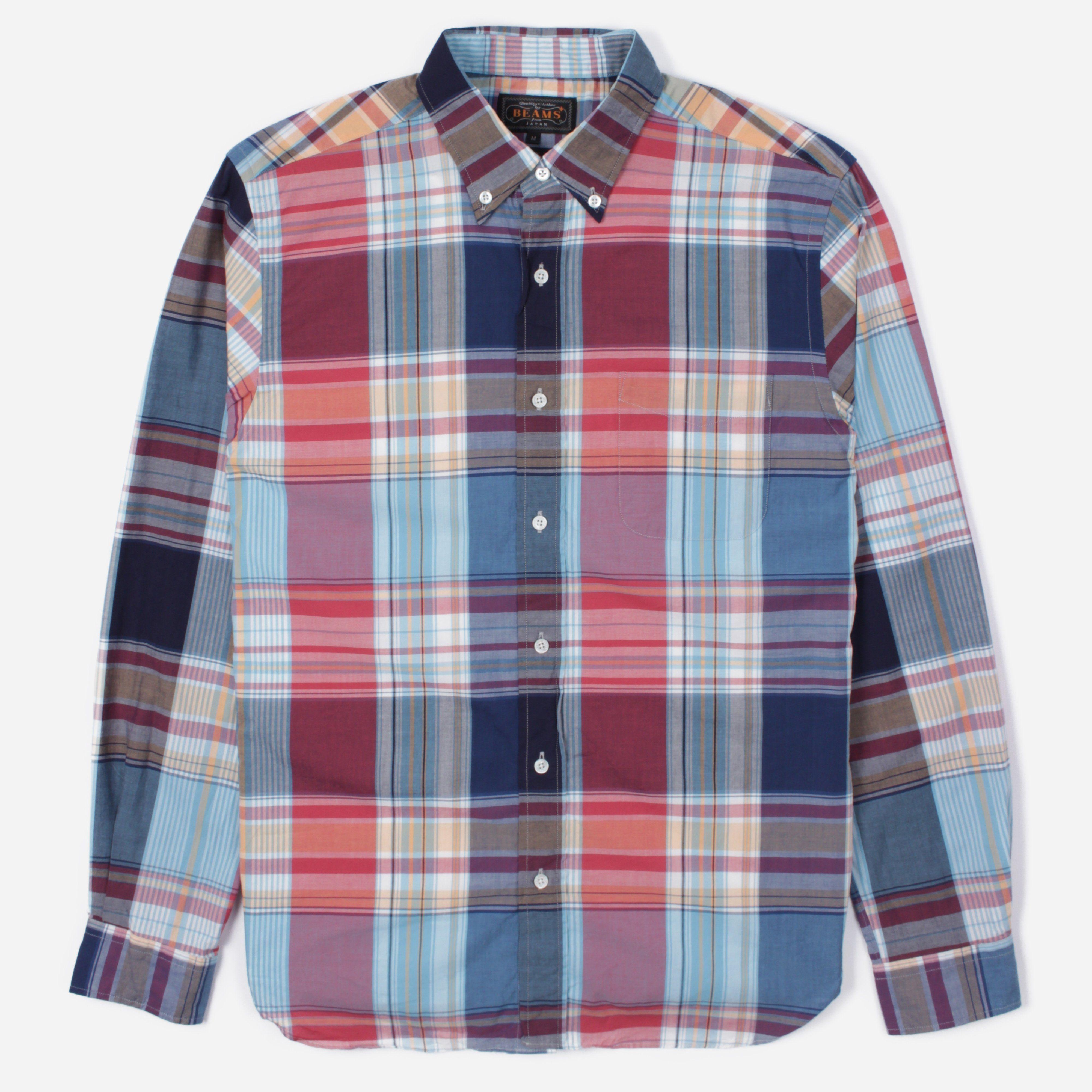 Beams Plus Big Check Long Sleeve Shirt